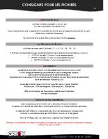 Consignes pour les fichiers – V1 07-2014